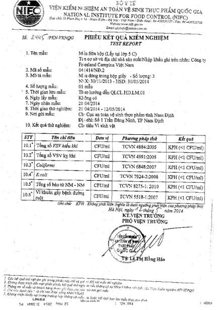 Vụ học sinh Nam Định ngộ độc do uống sữa: Sữa Cô Gái Hà Lan an toàn cho ...