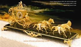 Đồng hồ cổTây Ban Nha mạ vàng 24K..