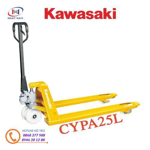 Xe nâng tay Kawasaki model CYPA25L tải trọng 2500kg