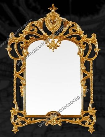 Gương soi nghệ thuật mạ vàng 24K