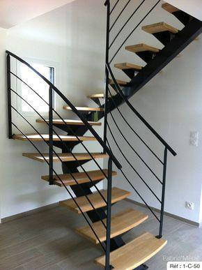Cầu thang xương cá - Cầu thang xương sắt