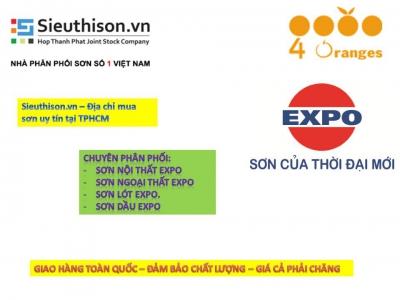 Siêu thị  bán sơn nước Expo Satin 6+1 tốt nhất cho tường ngoài trời