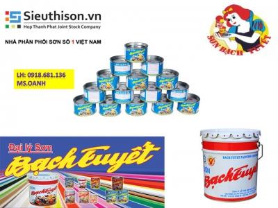 cửa hàng bán sơn dầu bạch tuyết màu đen lon 3kg giá rẻ tại quận Tân Bình