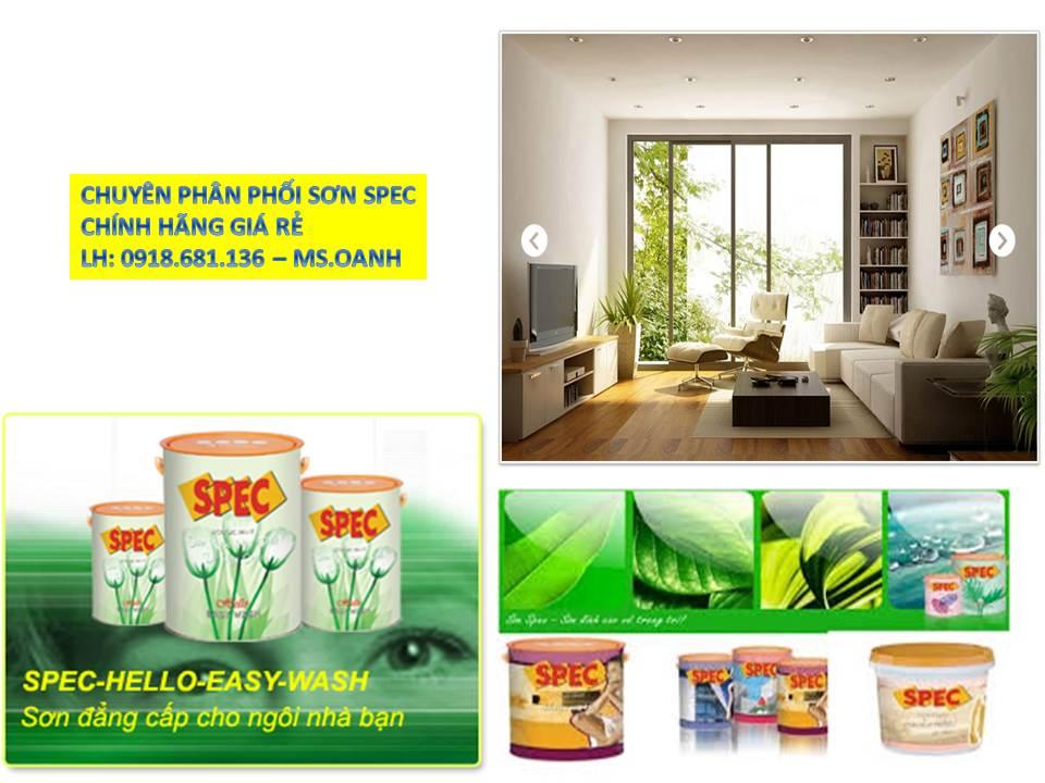 Đại lý bán sơn nước Spec chính hãng giá rẻ tại quận Tân Bình