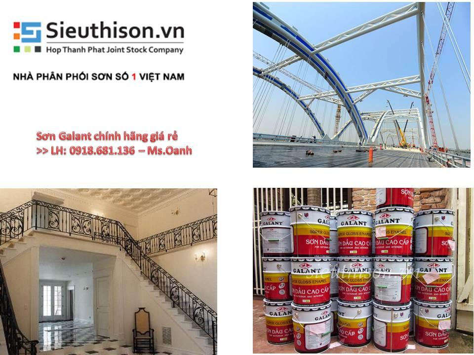 Cần bán sơn dầu Galant màu trắng thùng 17,5 lít giá rẻ tại TPHCM