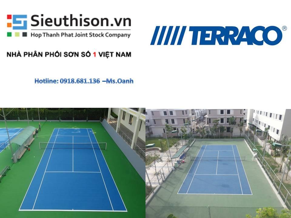 Bán sơn thi công sân tennis Terraco Flexipave Coating
