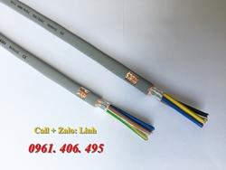 Cáp điều khiển, tín hiệu chống nhiễu 25 sợi, tiết diện: 0.5, 0.75, 1.0, 1.5 mm2